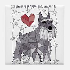 Geometric Schnauzer Tile Coaster