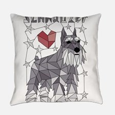 Geometric Schnauzer Everyday Pillow