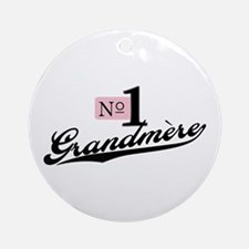 Number One Grandmere Ornament (Round)