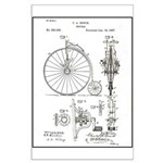 Bicycle Patent Print 1887 Poster