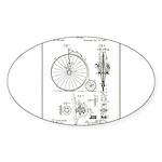 Bicycle Patent Print 1887 Sticker