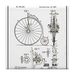Bicycle Patent Print 1887 Tile Coaster