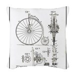 Bicycle Patent Print 1887 Woven Throw Pillow