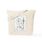 Bicycle Patent Print 1887 Tote Bag
