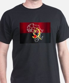 Angola Localised On Map T-Shirt