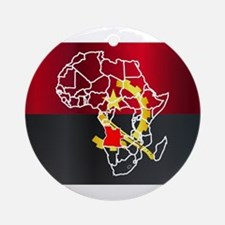 Angola Localised On Map Round Ornament