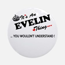 Unique Evelin Round Ornament
