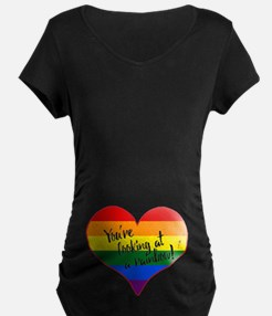 You're Looking At A Rainbow Dark Maternity T-S