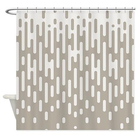 Gray Mid Century Modern Retro Shower Curtain