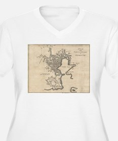 Vintage Map of Plymouth England Plus Size T-Shirt
