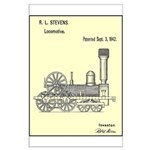 Train Locomotive Patent Paper Print 1842 Poster
