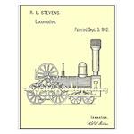 Train Locomotive Patent Paper Print 1842 Small Pos