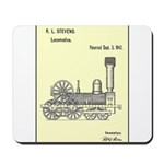 Train Locomotive Patent Paper Print 1842 Mousepad
