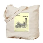 Train Locomotive Patent Paper Print 1842 Tote Bag