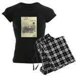 Train Locomotive Patent Paper Print 1842 pajamas