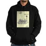 Train Locomotive Patent Paper Print 1842 Hoodie