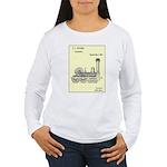 Train Locomotive Patent Paper Print 1842 Long Slee