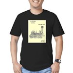 Train Locomotive Patent Paper Print 1842 T-Shirt