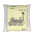 Train Locomotive Patent Paper Everyday Pillow