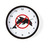 Anti-Dolphin Wall Clock