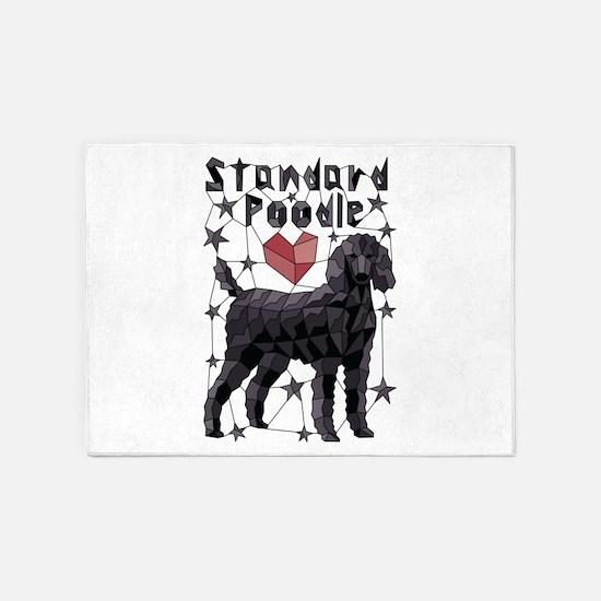 Geometric Standard Poodle 5'x7'Area Rug