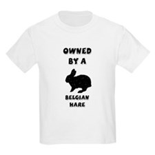 Owned by a Belgian Hare Kids T-Shirt