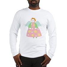 Cute Christmas Angel Long Sleeve T-Shirt
