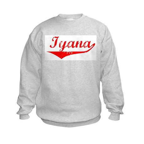 Iyana Vintage (Red) Kids Sweatshirt