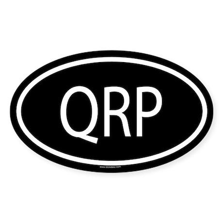 QRP Oval Sticker