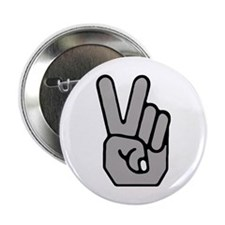 Peace Hand Symbol Button