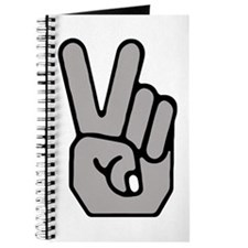 Peace Hand Symbol Journal