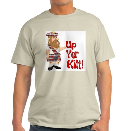 Scot Up Yer Kilt Light T-Shirt