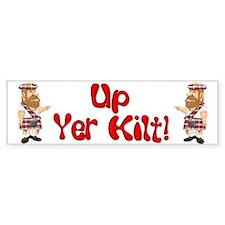 Scot Up Yer Kilt Bumper Bumper Sticker
