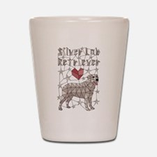 Geometric Silver Lab Retriever Shot Glass