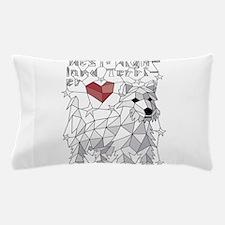 Geometric West Highland Terrier Pillow Case