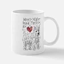 Geometric West Highland Terrier Mugs