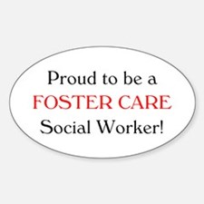 Proud Foster Care SW Oval Decal