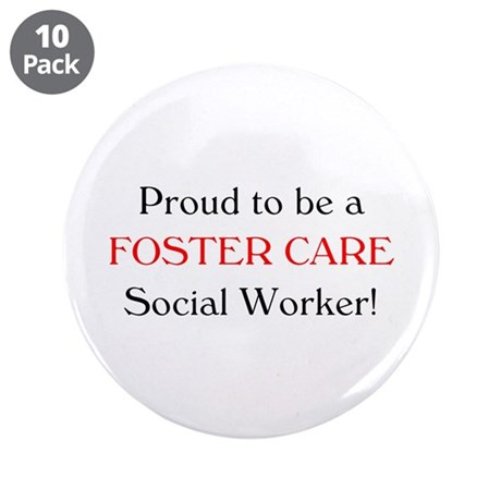"Proud Foster Care SW 3.5"" Buttons (10 pack)"