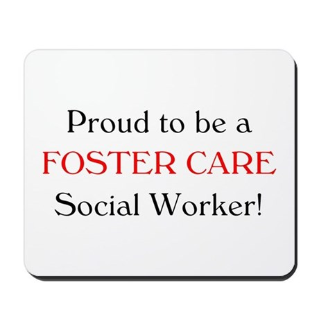 Proud Foster Care SW Mousepad