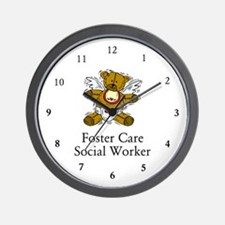 Foster Care SW Bear Wall Clock