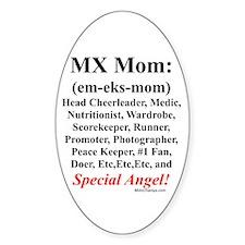 """MX Mom"" Oval Decal"