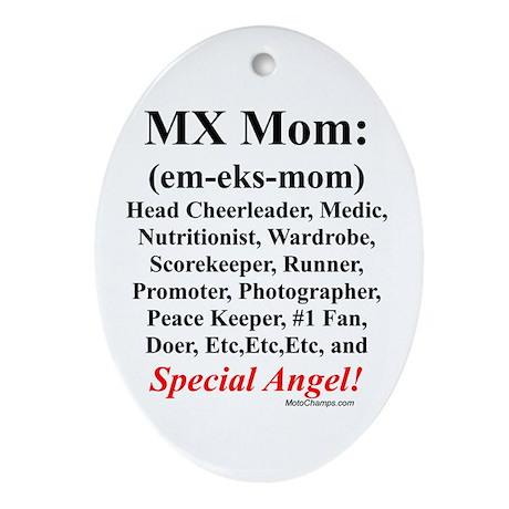 """MX Mom"" Oval Ornament"