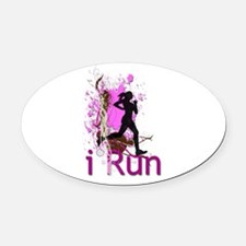 iRun Decorative Oval Car Magnet