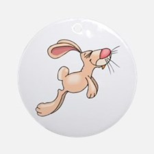 Cute Hopping Bunny Ornament (Round)