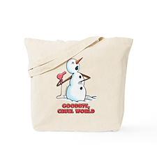Goodbye Cruel World Snowman Tote Bag