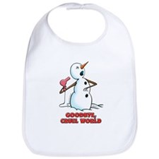 Goodbye Cruel World Snowman Bib