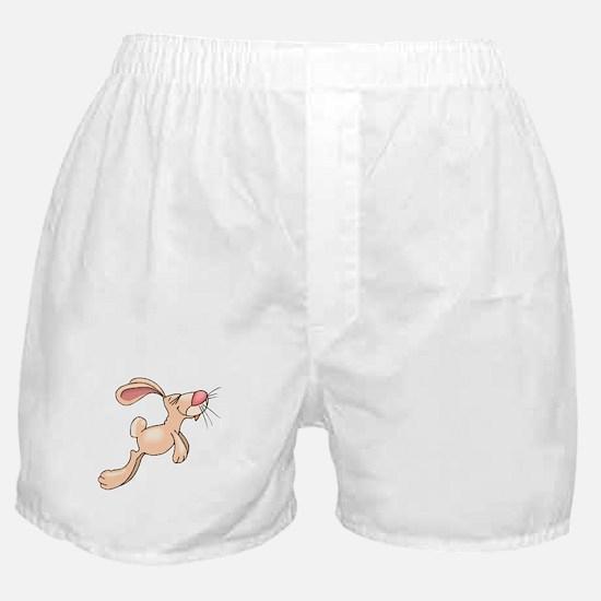 Cute Hopping Bunny Boxer Shorts