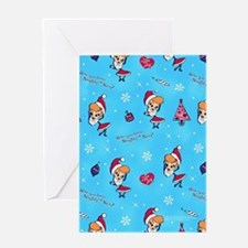 I Love Lucy: Christmas Pattern Greeting Card