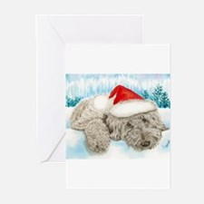 Christmas Labradoodle Greeting Cards