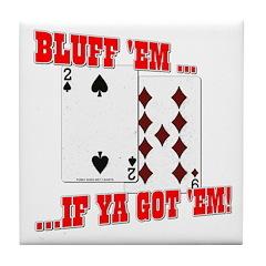 Bluff Texas Hold 'em Tile Coaster